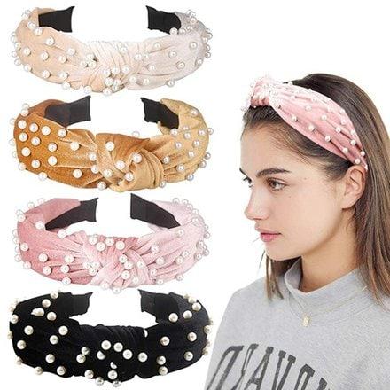 Allucho 4 pack velvet wide headbands | 40plusstyle.com