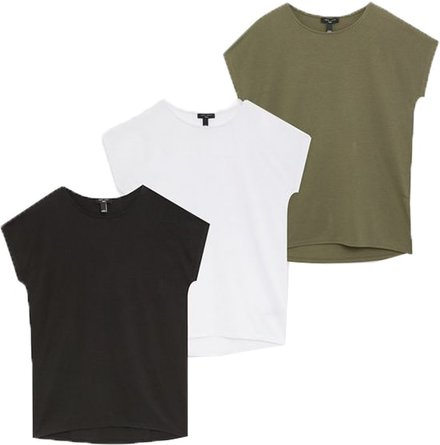 New Look Tall 3-pack crew neck  T-shirts | 40plusstyle.com