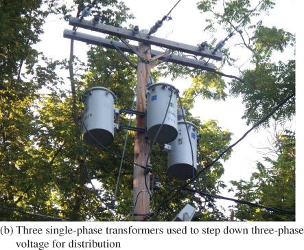 three single phase transformers