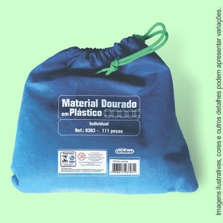 material dourado individual plastico