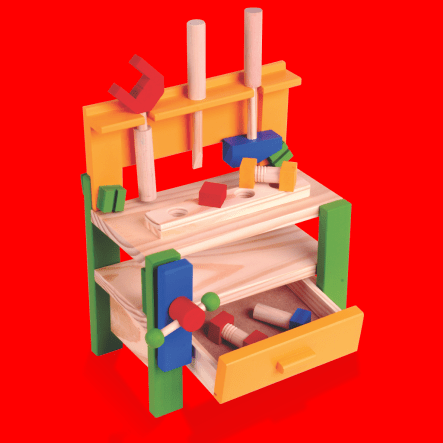 bancada brinquedo carimbras