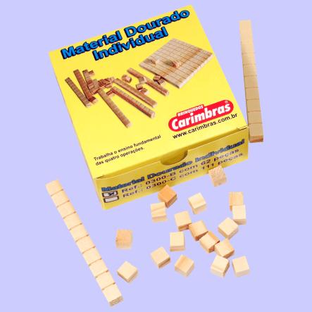 material dourado individual caixa papeão
