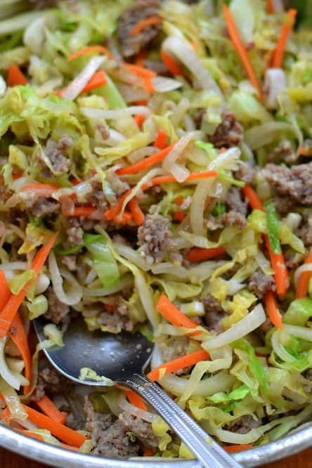 Easy Low Carb Egg Roll in a Bowl