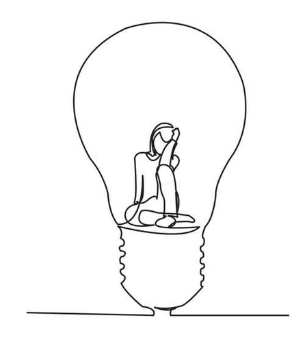 Woman in a bulb