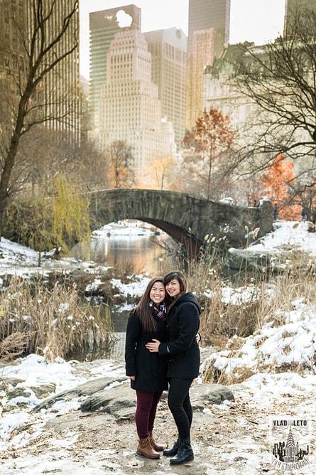 Photo 25 Same Sex proposal by Brooklyn Bridge + Engagement in Central Park | VladLeto