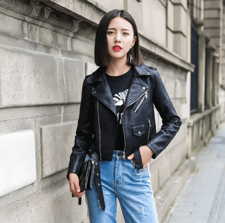 leather jacket for winter for women