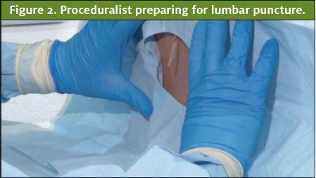 Proceduralist preparing for lumbar puncture. Gender Bias