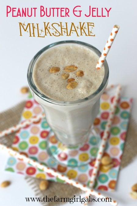 Are you a fan of Peanut Butter & Jelly Sandwiches? Then you have to try this Peanut Butter & Jelly Milkshake. This is my copycat recipe from The 50's Primetime Cafe in Disney's Hollywood Studios. Disney Recipe