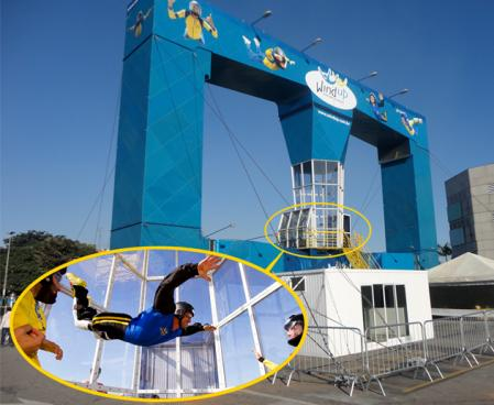 Como voar no túnel de vento Wind up Indoor Skydiving