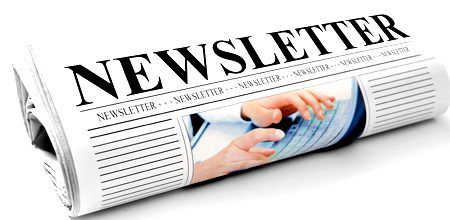Image of paper with words newsletter