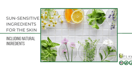 Sun-sensitive ingredients for the skin