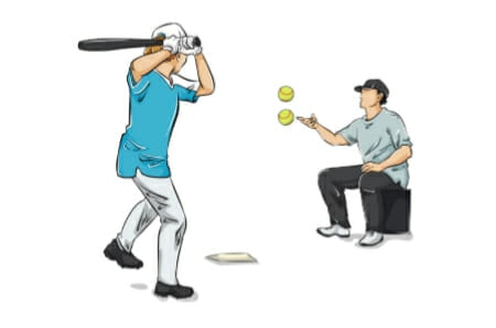 High Low Toss Softball Hitting Drill