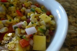 Grilled Corn & Mango Salsa