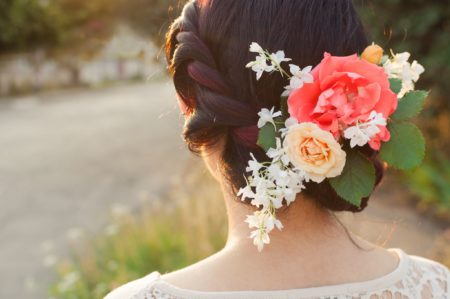 Floral Hair Accent for Bride