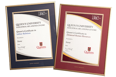 Queen's IRC Certificates