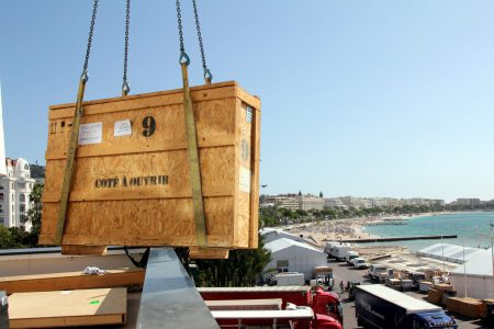 Crate handling for luxury companies at TFWA