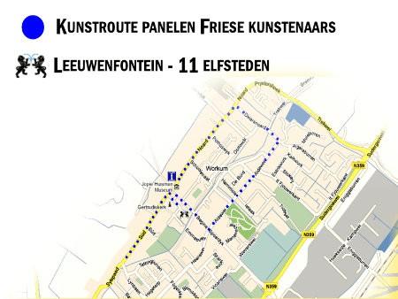 Artworkum wandelroute Buiten museum Friese kunstenaars