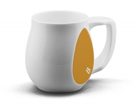 Ceramic yellow coffee mugs perfect as a novelty mug gift