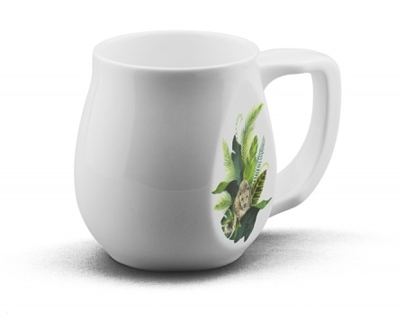 Leopard mug made from fine bone china and mad in Britain.