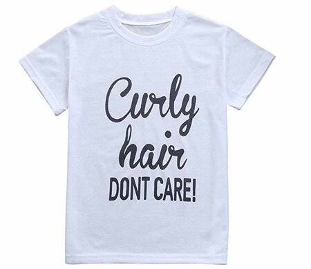 natural hair gifts for christmas, Curly Hair Dont Care Baby Tshirt