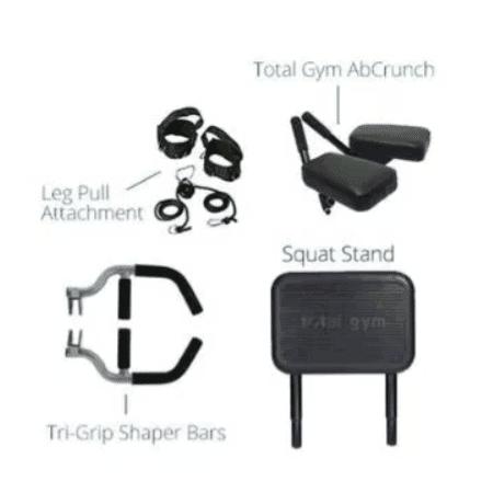 total gym supreme attachments