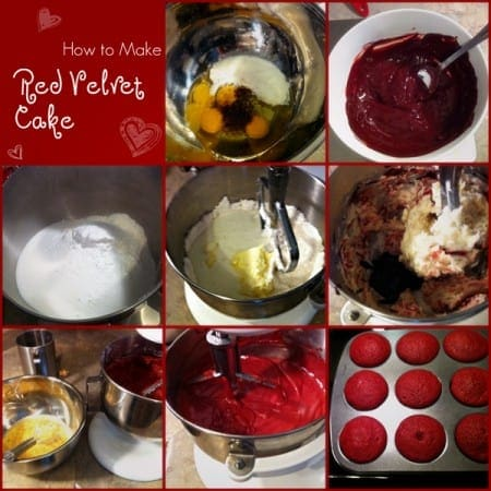 Red Velvet Cupcake Montage