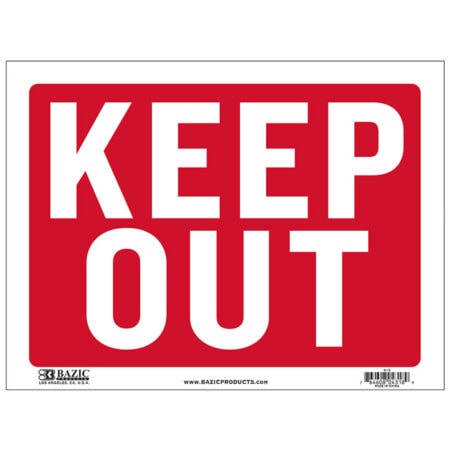 Cheap Keep Out Signs