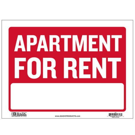 Cheap apt for rent signs