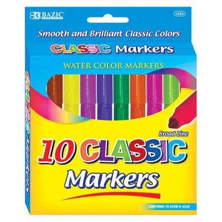 Cheap Water Color Markers Broad Tip