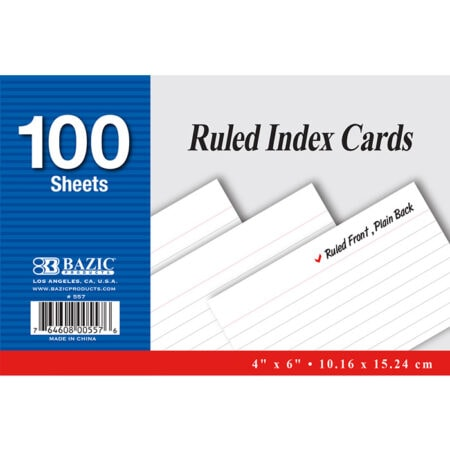Cheap Ruled Index Cards