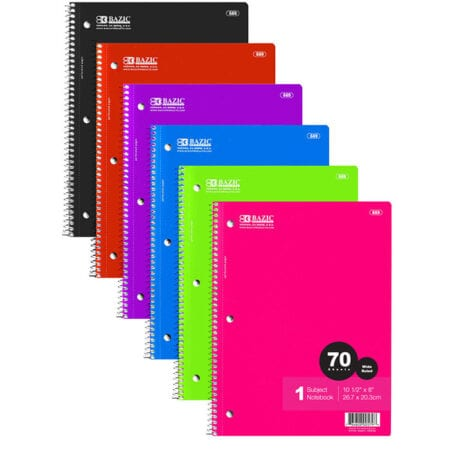 Cheap Wide Ruled 1 Subject Notebooks