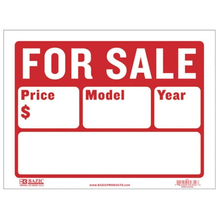 Cheap For Sale Signs - Auto