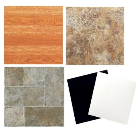 "Peel and Stick Vinyl Floor Tile 12"" x 12"", 20 Tiles per Box-Nexus"