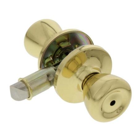 Interior Privacy Door Lock, Polished Brass Finish