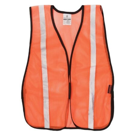 Safety Vest with Silver Reflector Stripes