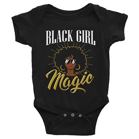 natural hair gifts for christmas, Black Girl Magic Infant Onesie
