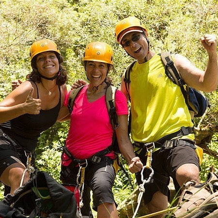 Excited Maui Rappelling Trio