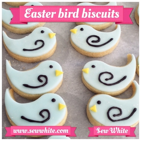 Easter Biscuit Making little bir biscuits