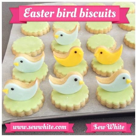 Easter bird biscuits