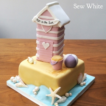 beach hut cake by Cakes by Robin in Wimbledon