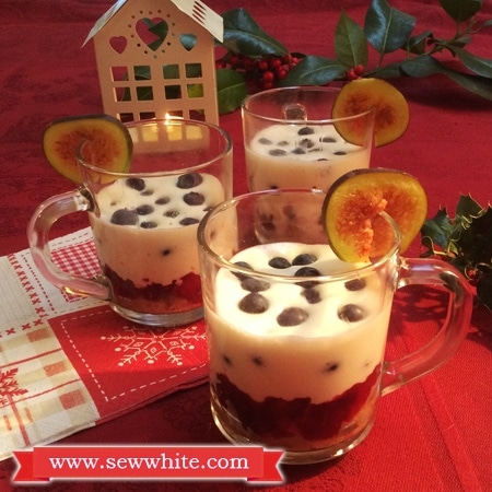 Sew White cranberry and mulled wine Christmas trifle