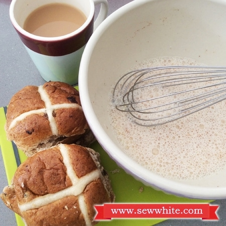 Creating Hot Cross Bun French Toast for Easter brunch
