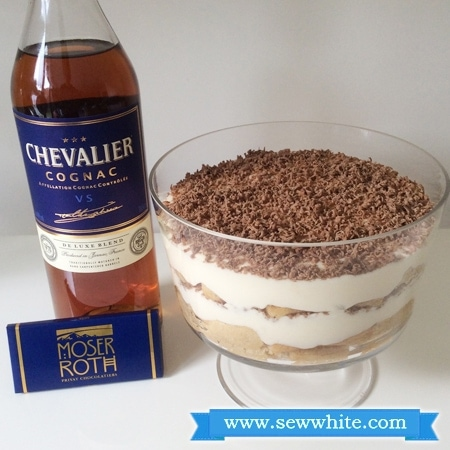 Sew White chocolate and Cognac tiramisu 3