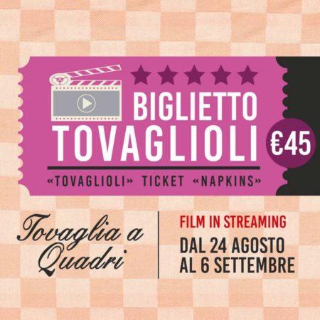 Biglietto Tovaglioli €45 - Streaming film Tovaglia a Quadri 2020 - PAN DE' MIA