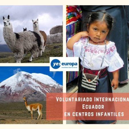 Voluntariado Internacional Ecuador en centros infantiles