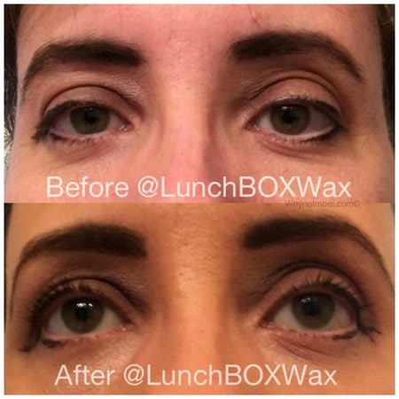 My freshly waxed and groomed eyebrows at LunchBOX A WAXING Salon|#beauty|#Fashion|#waxing|#brazilian|#eyebrowmakeover|#Makeup