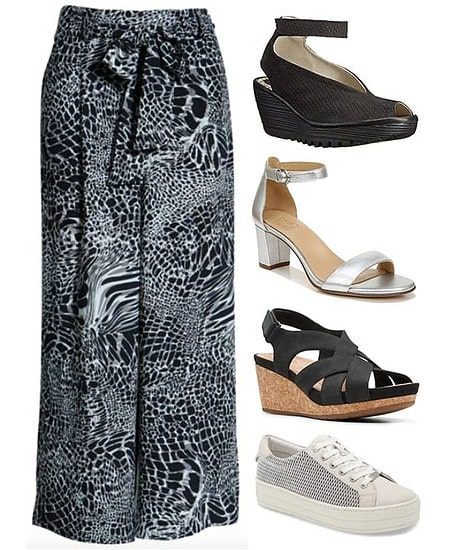 Crop wide leg pants | 40plusstyle.com