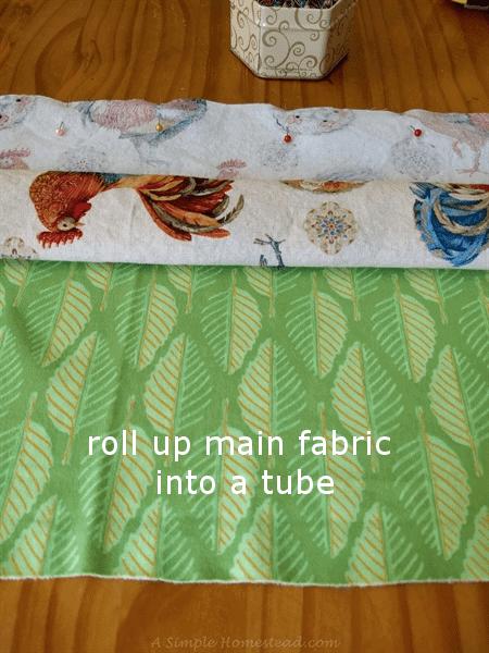 hot dog pillowcase - roll up main fabric