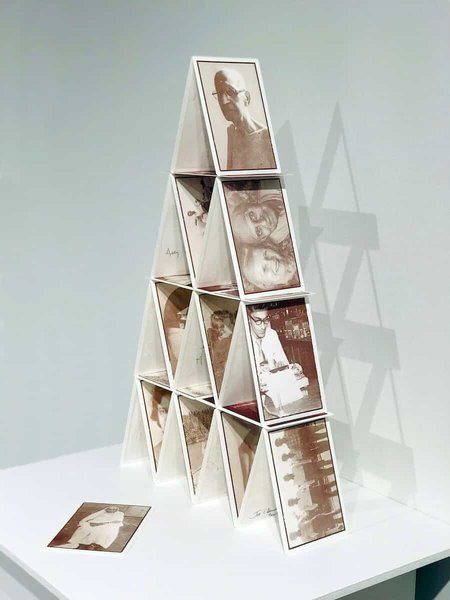 House of Cards, 40cm x 60cm x 11.5cm, porcelain ceramic substrate, iron-oxide ceramic decal, 2019, photo credit, courtesy of Latcham Art Gallery.