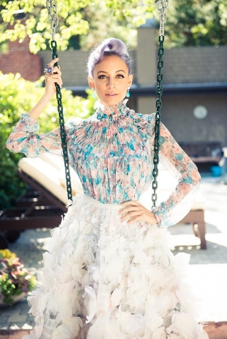 Nicole Richie's Periwinkle Hair for Paper Magazine
